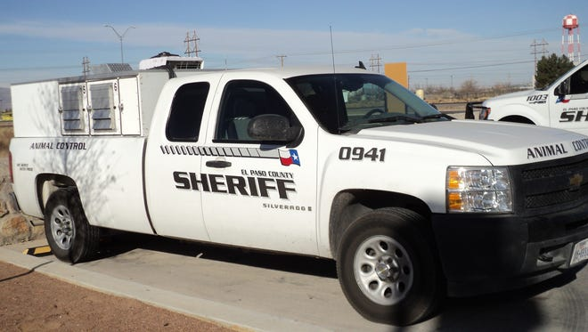 An El Paso County Sheriff's Office animal control unit is shown.