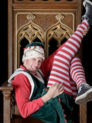 "Chris Johnston as Crumpet in ""The Santaland Diaries."""