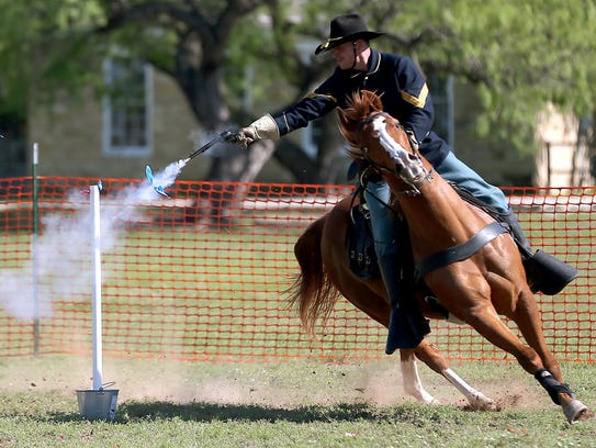 Riders competing in the Regional Cavalry Competition