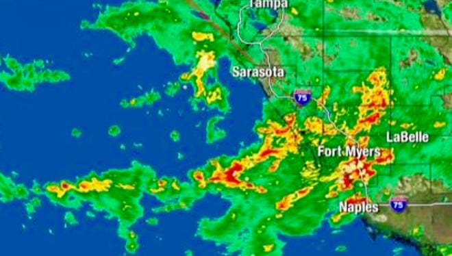 Tropical Depression 6 formed Monday morning in the Gulf of Mexico.