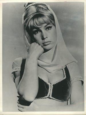 "Barbara Eden, as she appeared in ""I Dream of Jeannie"""