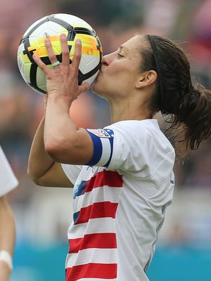 Carli Lloyd and the U.S. women's soccer team will play England in the SheBelieves Cup on March 2 at Nissan Stadium.