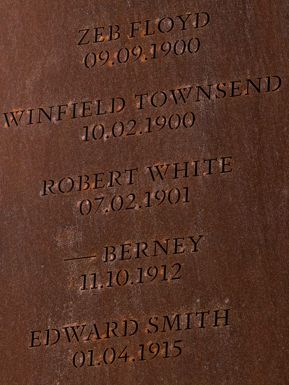 "One of the pillars at EJI's lynching memorial in Montgomery shows the name of Robert White. The 1900 Census listed Robert White as Robin. Most witnesses at the trials referred to him by that name, as did accounts of the murder after the sentencing. But the coverage immediately following the lynching called him Robert, as did a handful of witnesses. His brother Abe, who would play a major role in the events before and after the lynching, used both ""Robin"" and ""Robert"" in a letter dictated in 1902, suggesting, perhaps, that Robin was a nickname."