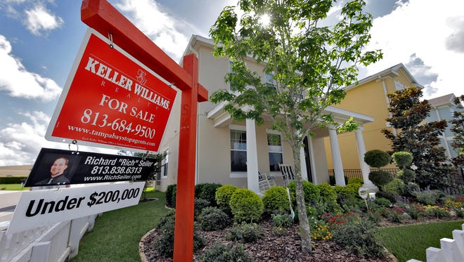 A new home for sale in the Winthrop subdivision in Riverview, Fla.