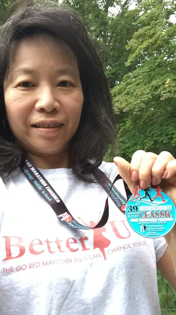 Grace Gay completed the 13.1 mile run at the Dutchess