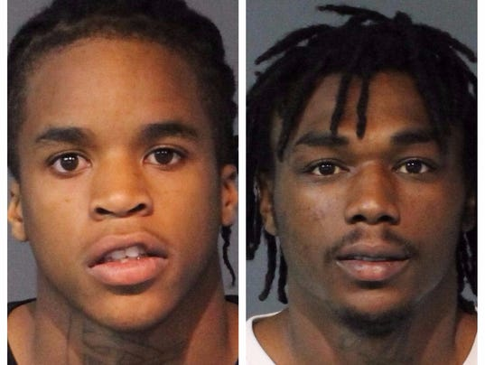 Raymond Banks and Kayshawn Smith-Harper mugshots