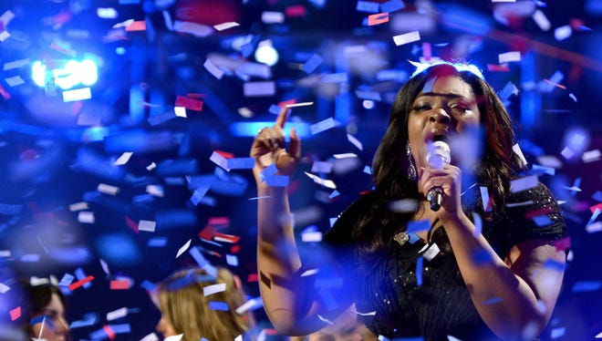 Candice Glover wins 'Idol' at the Nokia Theatre on May 16 in Los Angeles.