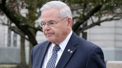 Sen. Bob Menendez, D-N.J., leaves the federal courthouse