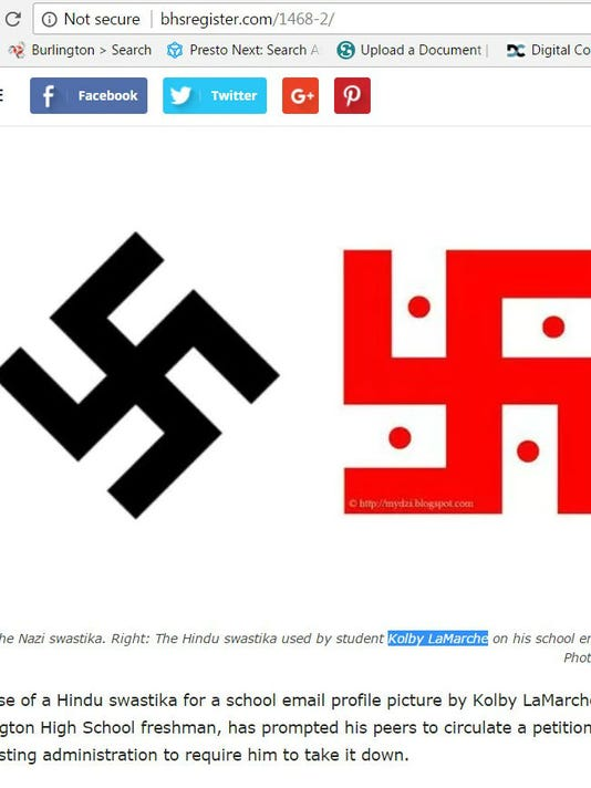 School Student Debate Use Of Hindu Swastika