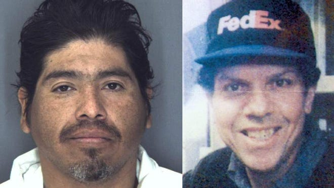 Felipe Campos, left and victim James Keating