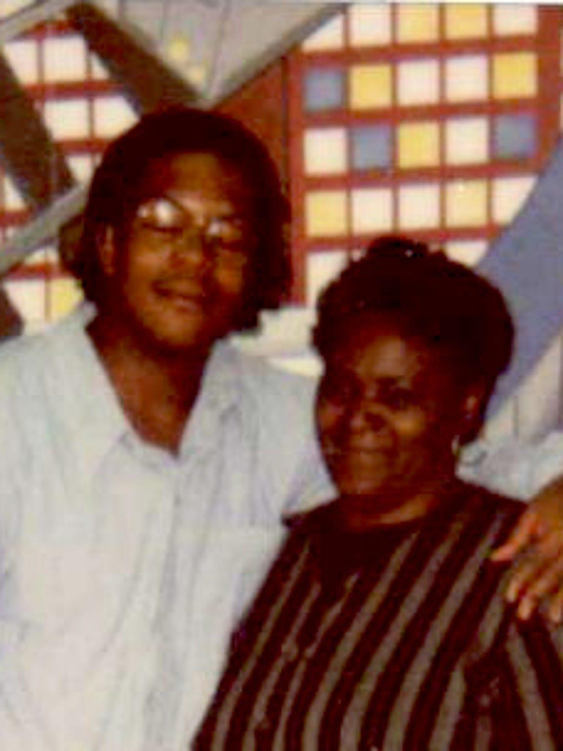 Rojai Fentress, left, and family friend Martha Ann