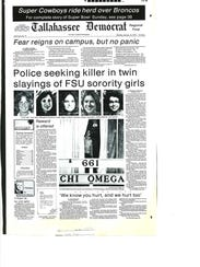 The front page of the Tallahassee Democrat from Jan. 16, 1978.