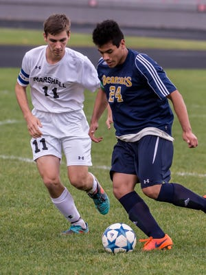 Battle Creek Central High School soccer player Bladimir Patino (24) was declared brain dead after a car crash on Monday.
