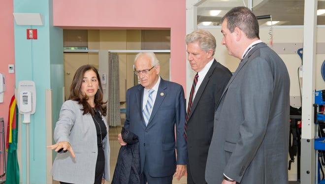 From left: Dr. Sara Cuccurullo, U.S. Rep. Bill Pascrell Jr., U.S. Rep Frank Pallone Jr. and Dr. Brian Greenwald.