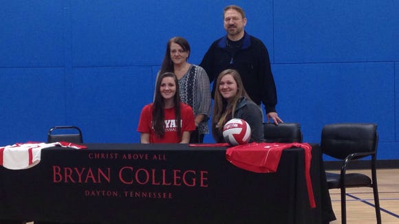 Asheville Trailblazers middle hitter Hope Burnett has signed to play college volleyball for Bryan (Tenn.).