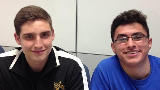 Putnam Valley High School seniors Daniel Munson, left,and Blendi Muriqi created Volunteer Access, a website that connects high school kids with volunteer opportunities.
