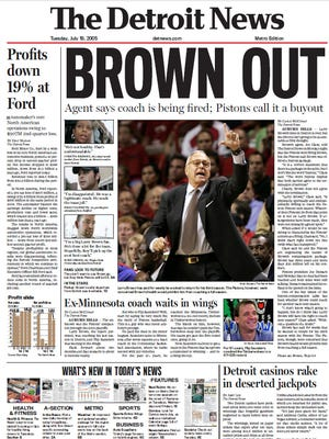 The front page of The Detroit News on July 19, 2005.