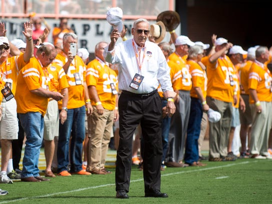 The 1967 National Championship team is honored during