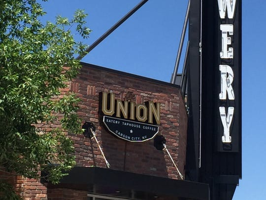 The Union complex that contains a restaurant, taphouse, coffee shop and beer garden lies on a gentrifying strip of North Carson Street near the capitol building in Carson City.