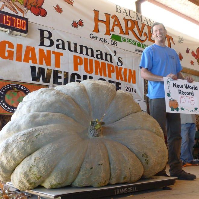 Bauman's Giant Pumpkin Weigh Off.