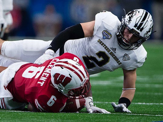 Western Michigan Broncos defensive back Justin Tranquill (2) went to Fort Wayne Carroll.