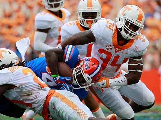 Tennessee's Darrin Kirkland Jr. (34)  went to Lawrence Central.