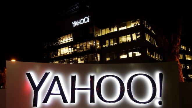 Exterior view of Yahoo headquarters in Sunnyvale, Calif.