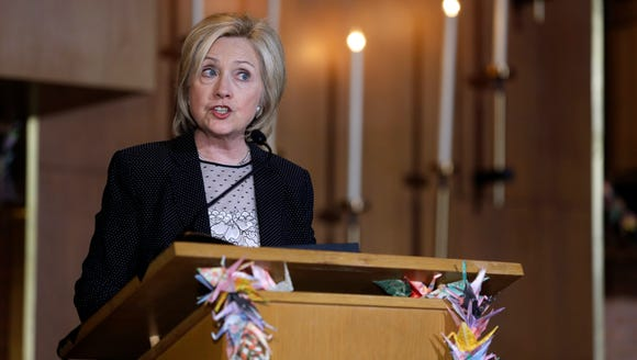 Democratic presidential candidate Hillary Rodham Clinton