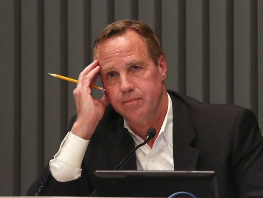 Palm Springs Mayor Steve Pougnet leads City Council