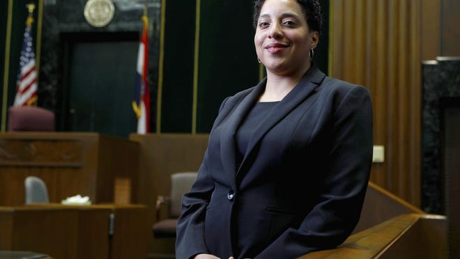 St. Louis Circuit Attorney Kim Gardner poses for a photo in St. Louis in May of 2017.