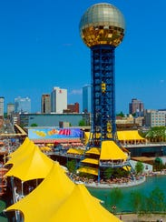 The Sunsphere is seen during the World's Fair in 1982.