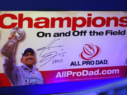 Memorabilia about former Colts Coach Tony Dungy are
