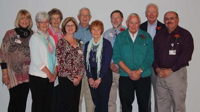 Agnesian HealthCare recently recognized its dedicated volunteers, including its advisory board members (left to right): Norlene Herrenbruck, Sandy Binotto, Mary Sippel, Deborah Booher, George Feudner, Sandy Wroblewski, Gary Ring, Richard Jaeger, Kenneth Becker and Edward Gurno. Missing from photo: Alex Rodriguez.