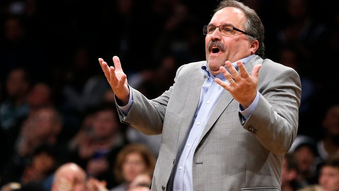 Stan Van Gundy during a game against the Brooklyn Nets in New York on April 1, 2018.