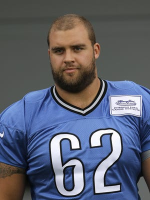 Detroit Lions guard Darren Keyton