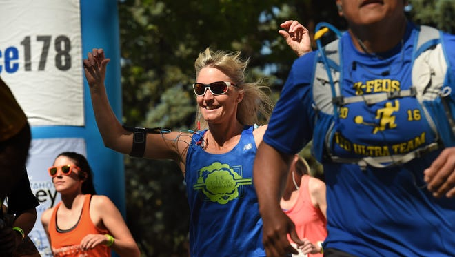 Runners begin the 12th Annual Reno-Tahoe Odyssey at Wingfield Park on Friday.