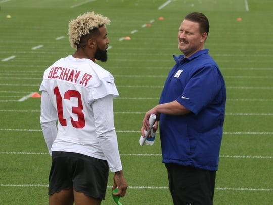 NY Giants wide receiver Odell Beckham Jr. and head