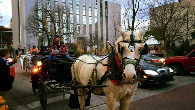 Carriage rides will be given from 4:30-7 p.m. Saturday as part of A Downtown Christmas.