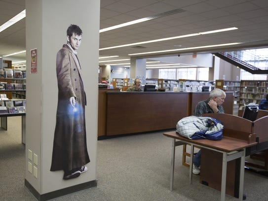 A Doctor Who decal on the main floor of the Manitowoc