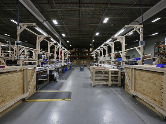 Production line stations at Orion Energy Systems in