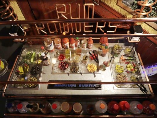RumRunners sets up its build-your-own-Bloody Mary bar