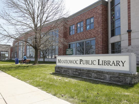 The Manitowoc Public Library April 25 in Manitowoc.