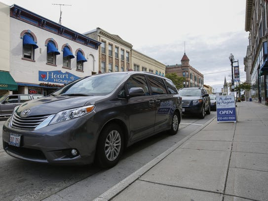 Cars parked along 8th Street Tuesday, Oct. 10, 2017,