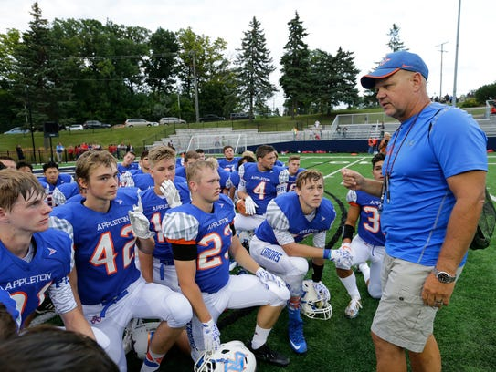 Appleton West High School's coach Brent Engen talks