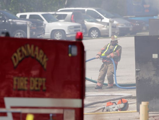 Multiple fire departments responded to a structure
