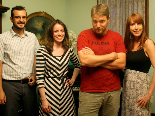 From left: Geoff Newton, Kim Newton, Tom DuMontier and Diana Young of WQSV 106.3 radio.