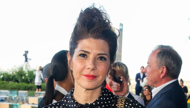 Marisa Tomei poses at the Louis Vuitton Cruise Show at the Bob and Dolores Hope Estate on Wednesday, May 6, 2015, in Palm Springs.