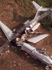 Wreckage of American Airlines Flight 1420 sits at Little