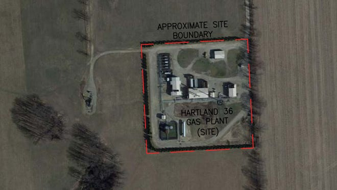 A decommissioned natural gas plant which was operated by Merit Energy Co. in Hartland Township has since been demolished. A dangerous chemical called sulfolane was found in the soil and groundwater at the plant site.