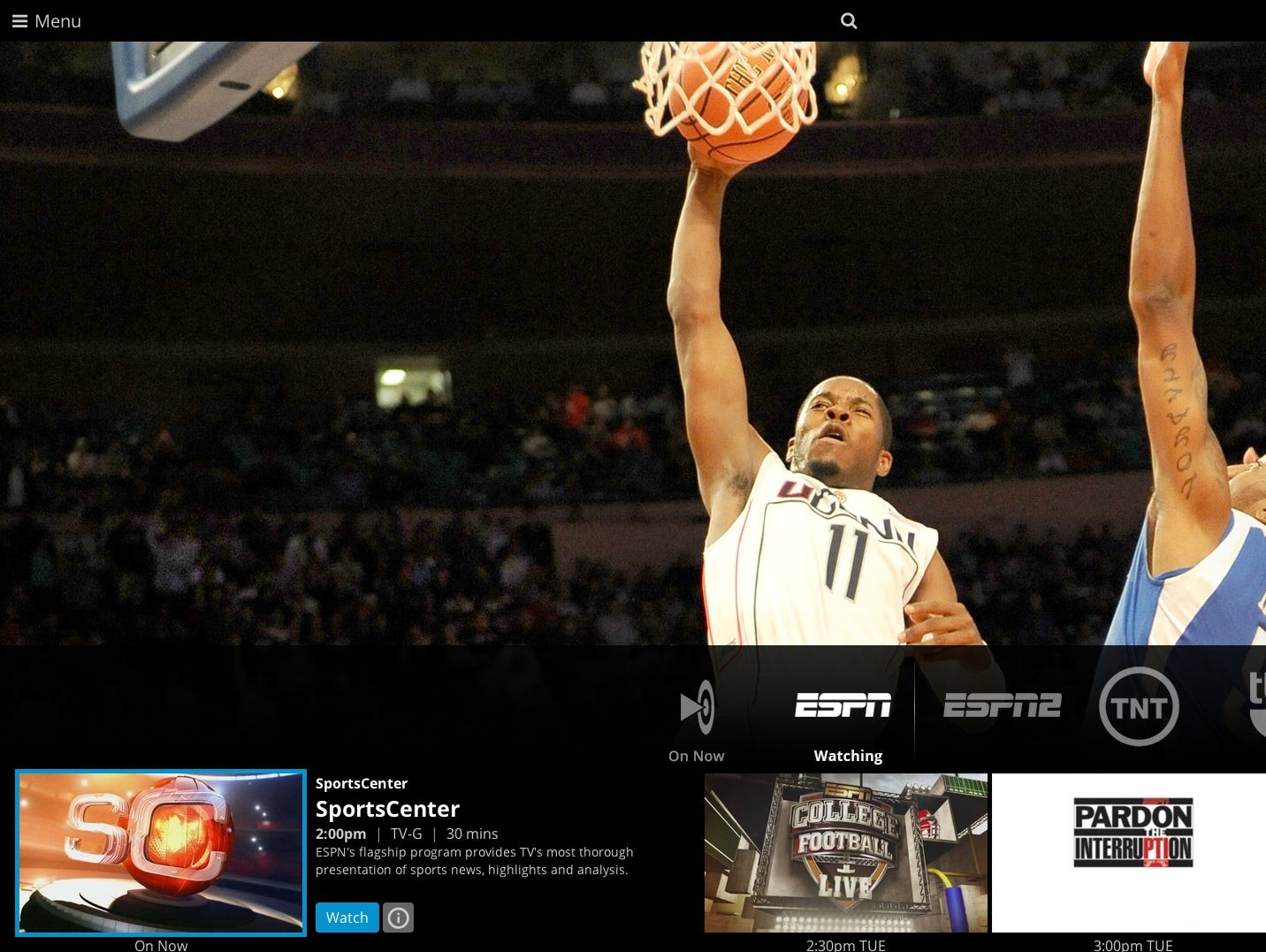 ESPN is among the channels available on Sling TV.